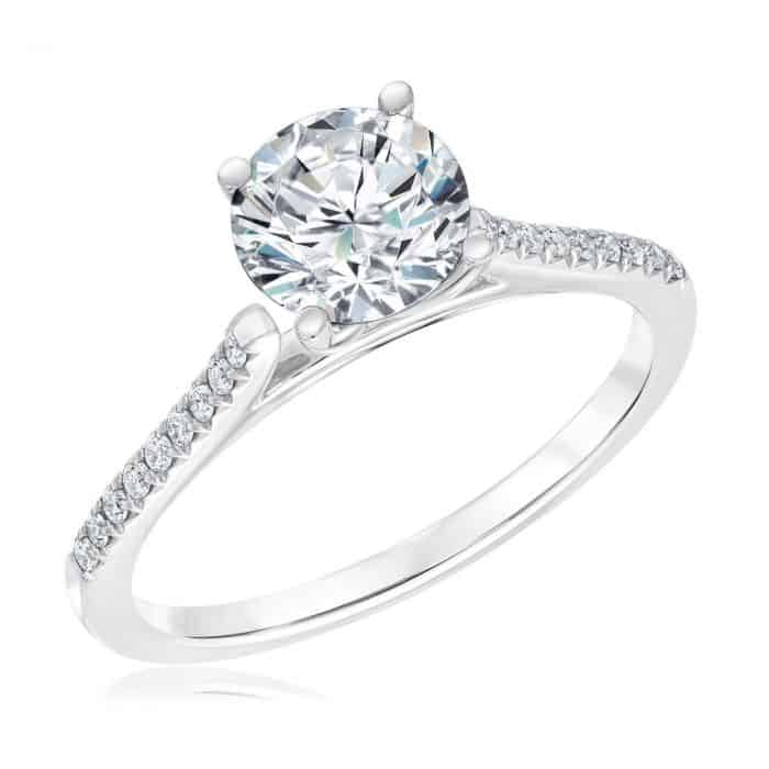 Exclusive REEDS Signature Round Diamond Engagement Ring