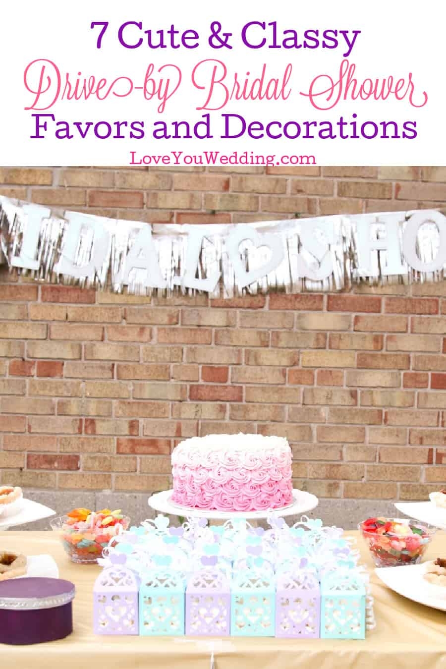 So you're looking for some impressive drive-by bridal shower favors and decor ideas? Wait until you see these cute ideas! Take a look!