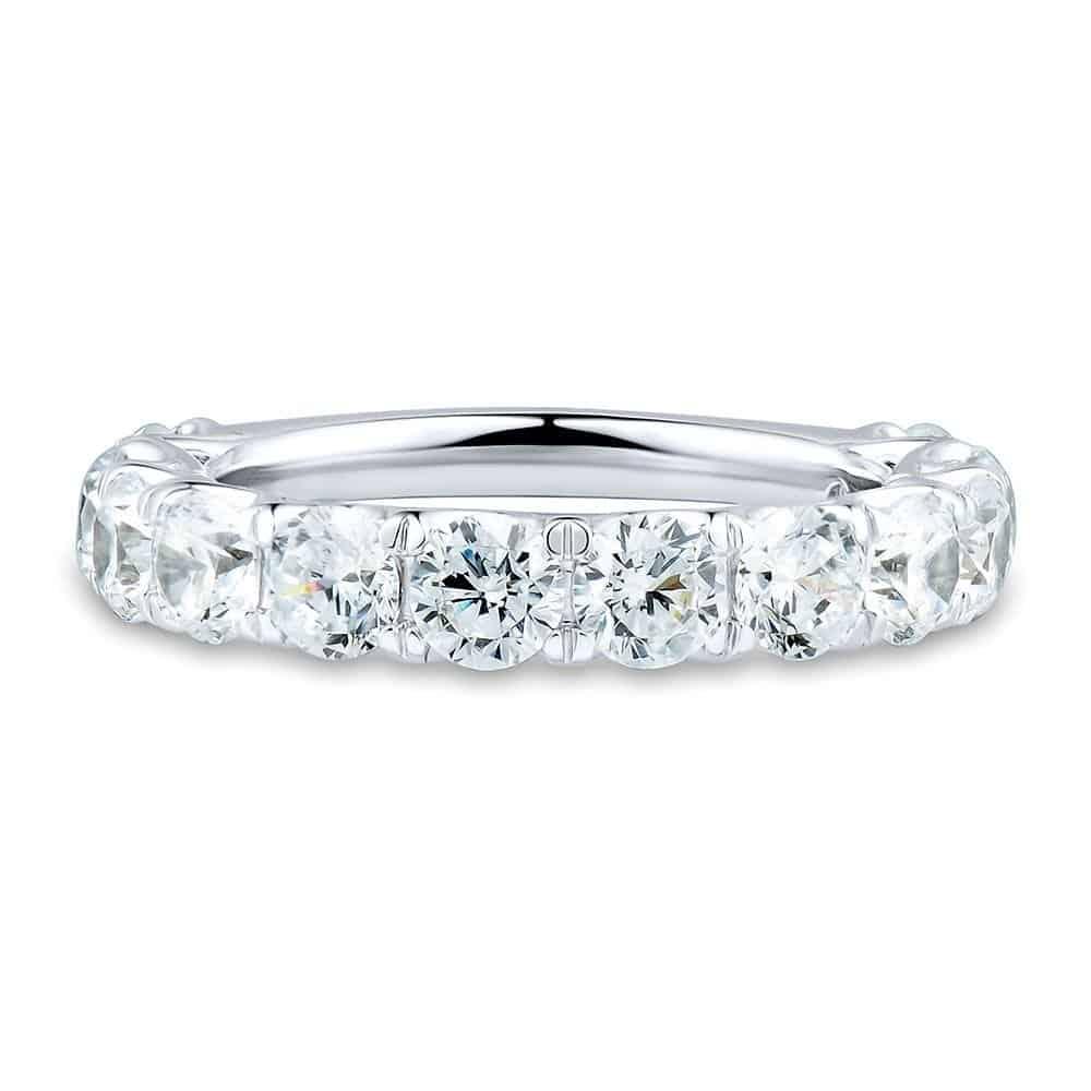 LIGHT HEART® 4 CT. TW. LAB GROWN DIAMOND ETERNITY BAND IN 14K WHITE GOLD