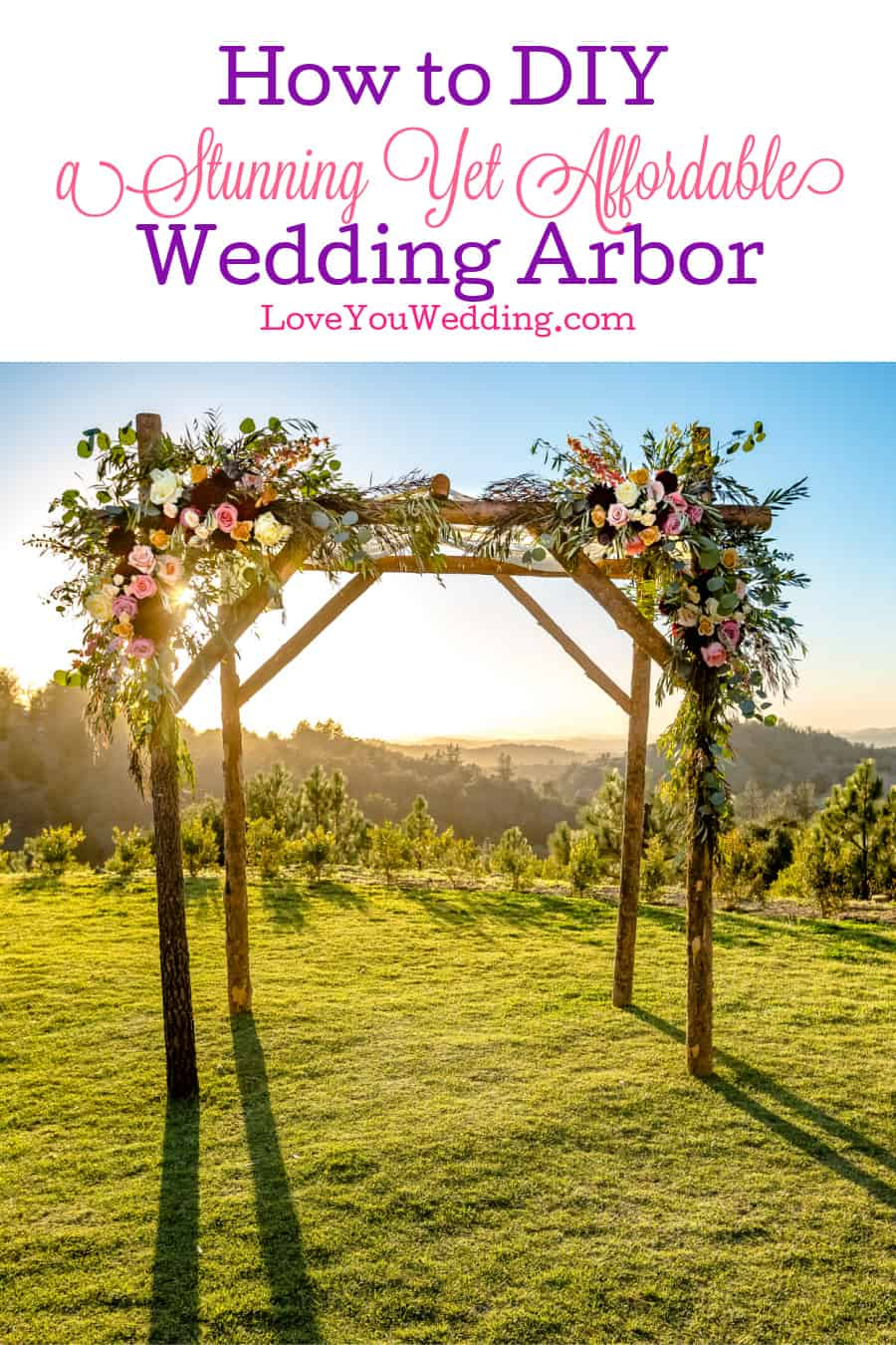 "One groom said renting a wedding arbor is ""stupid expensive,"" so he made his own! Read on for tips on how to create a DIY wedding arbor yourself!"