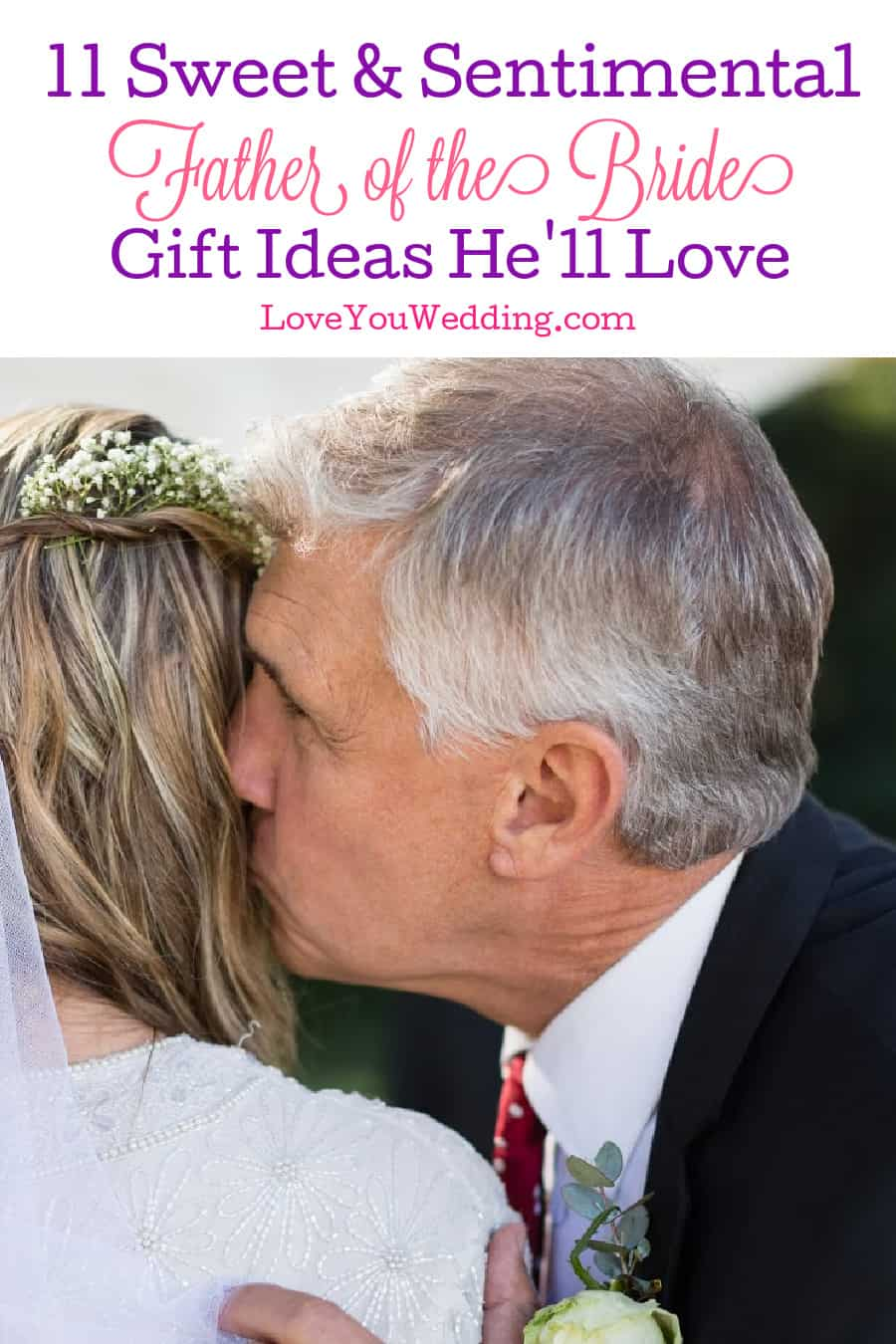 If you're looking for some sweet and sentimental Father of the Bride gifts, you'll love these ideas! They fit all budgets! Take a look!