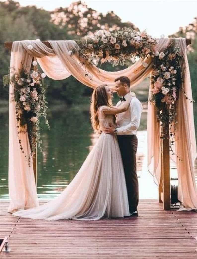 Wedding Arch Fabric Drape