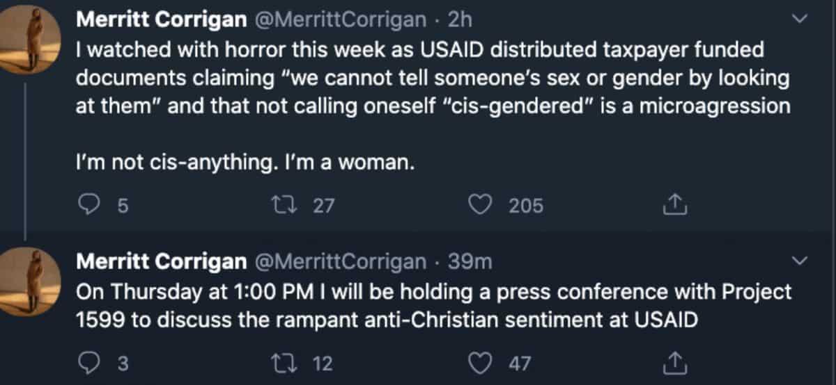 Merritt Corrigan Trump appointee homophobic tweets