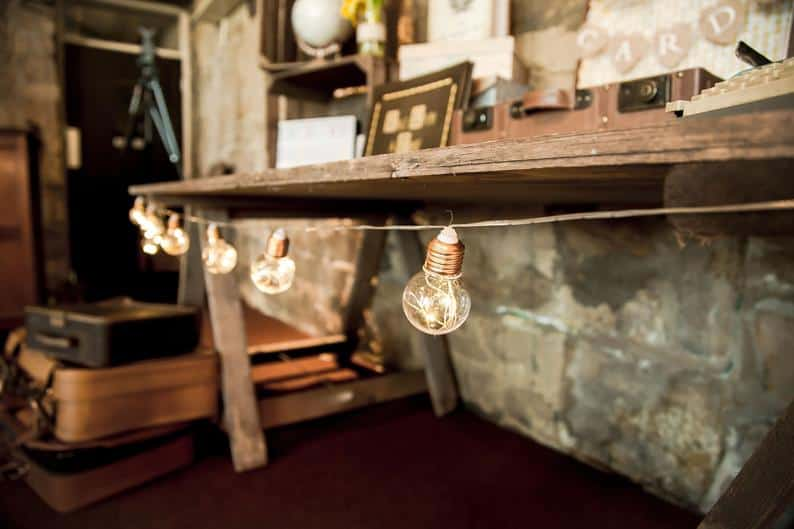 vintage bulb lights for your wedding arches with lights