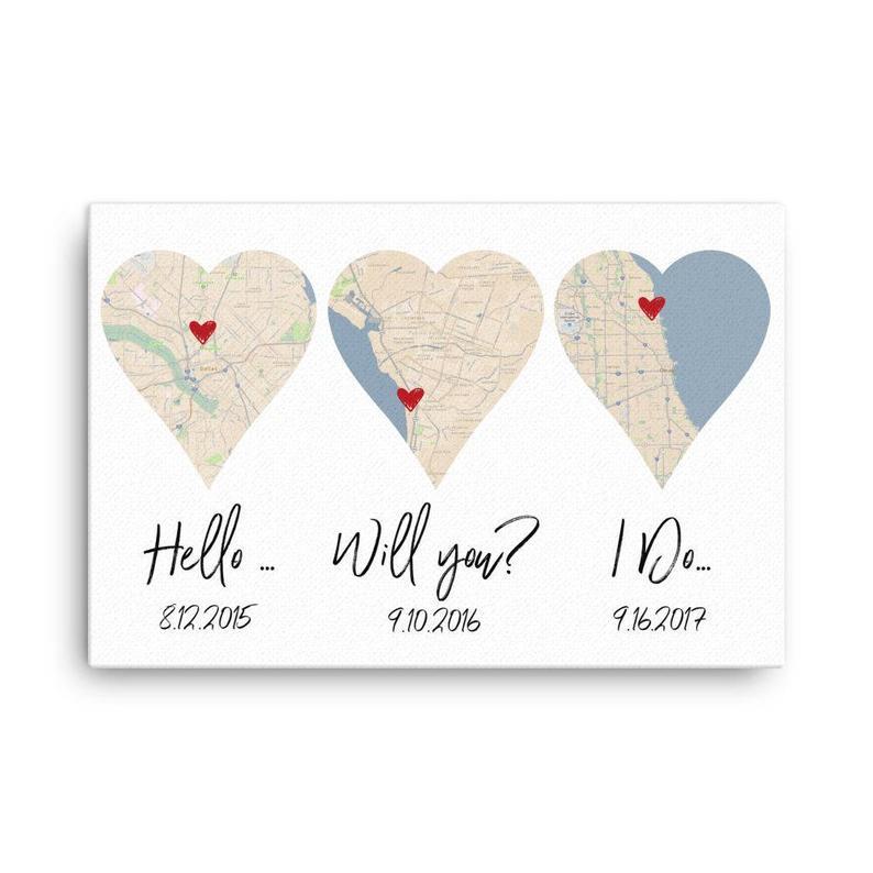 Hello, Will You, I Do, Art Print, 1st Anniversary Wedding Gift