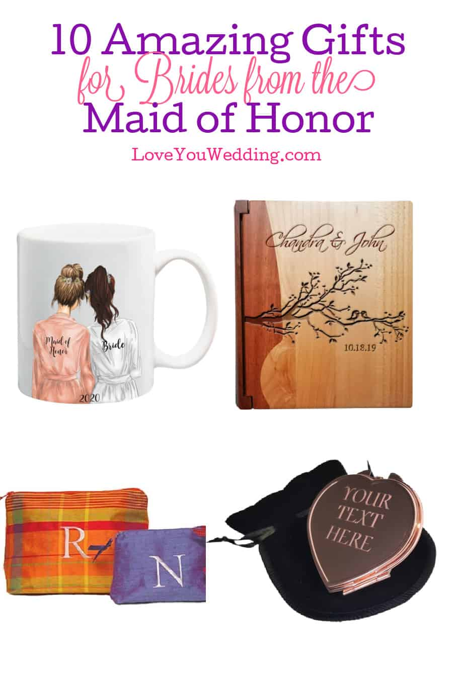 If you're looking for the best wedding gifts for a bride from a maid of honor, we've got you covered! Check out 10 that we love!