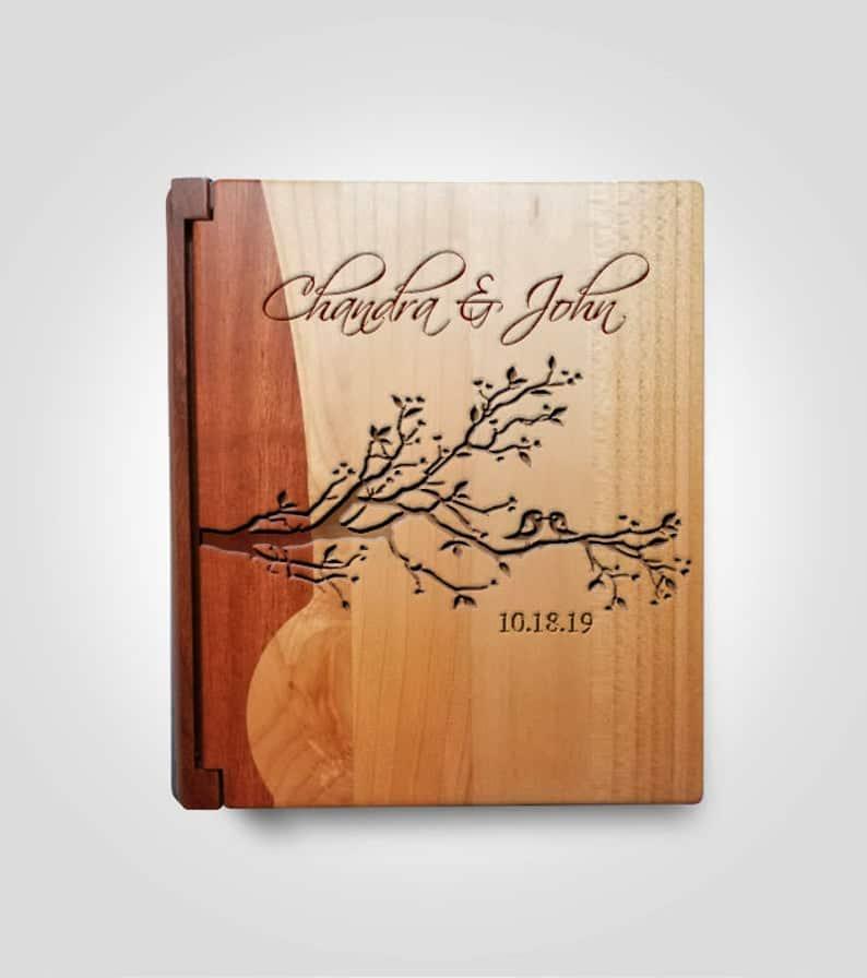 Personalized Wood Photo Album