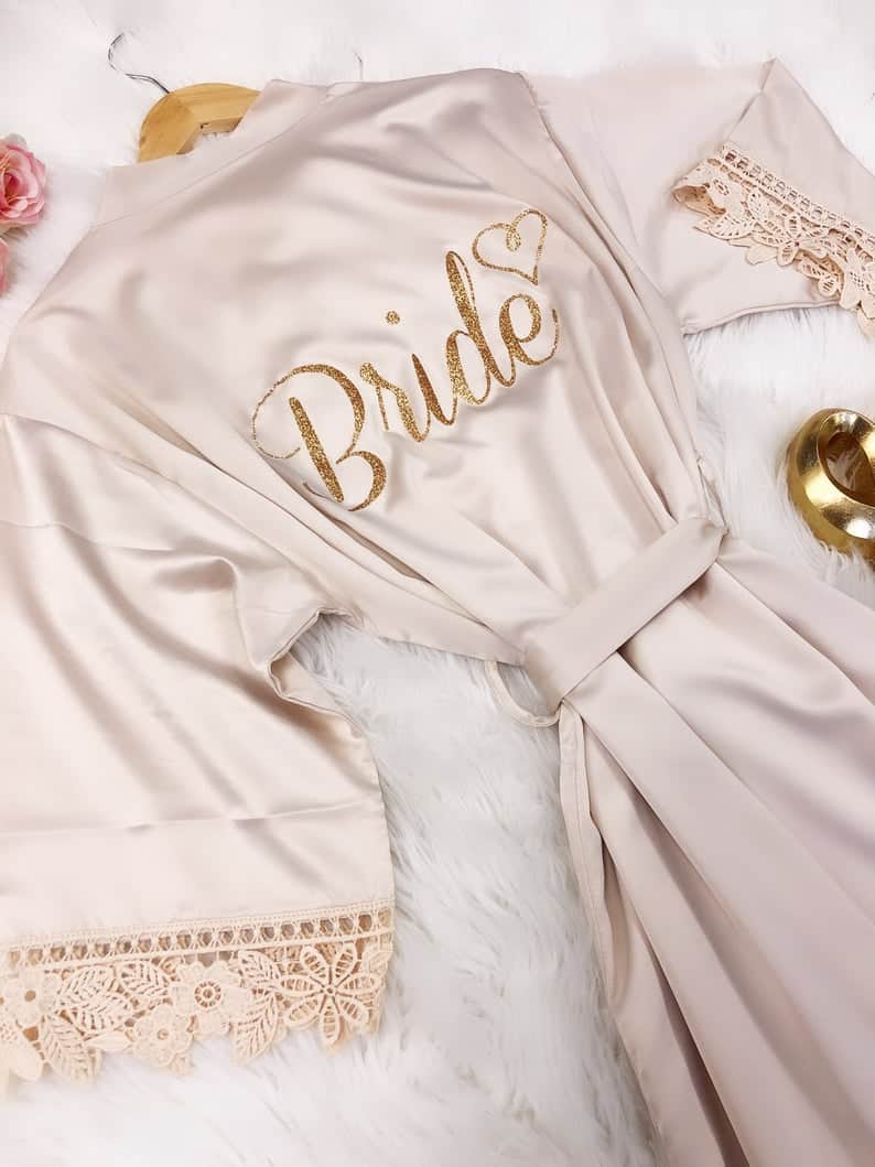 Silk Bride Robes make great wedding gifts for a bride from a maid of honor.