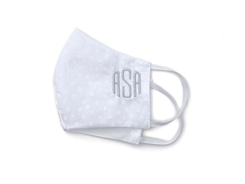Embroidered Monogram Face Mask