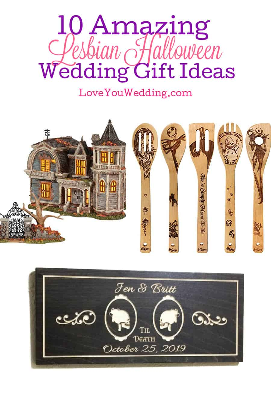 Looking for some super cute lesbian Halloween wedding gifts? Check out ten that we think are just perfect for two brides!