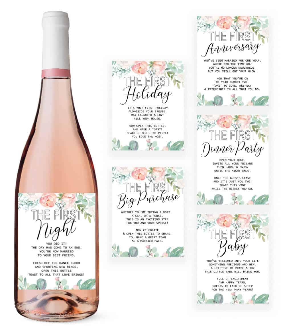 Big milestone wine labels