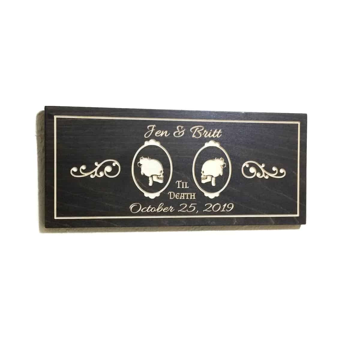 Personalized Goth Wedding Sign