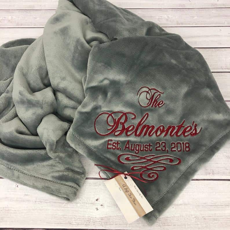 Personalized Couple's Blanket