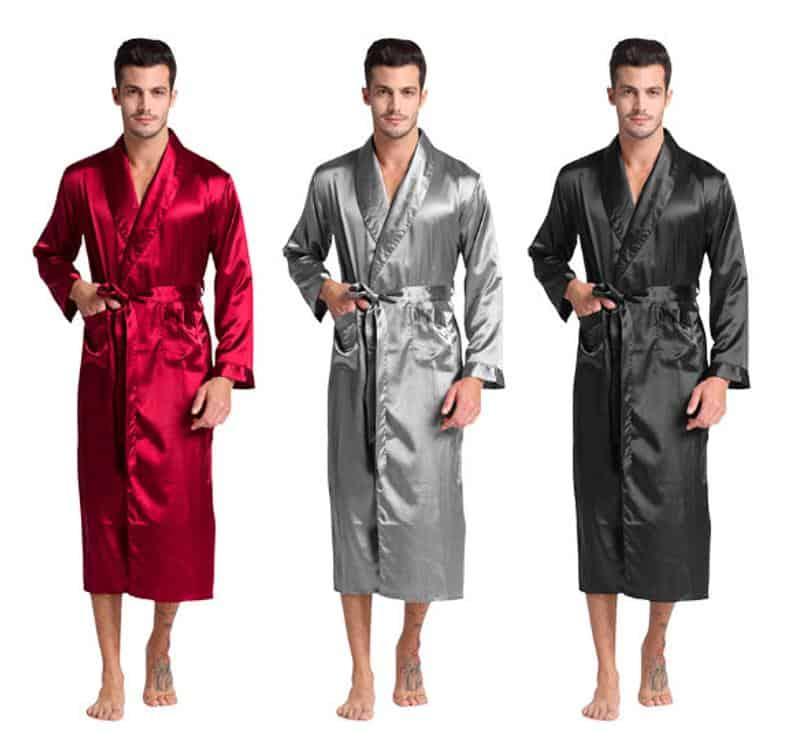 Men's Custom Silk Robe
