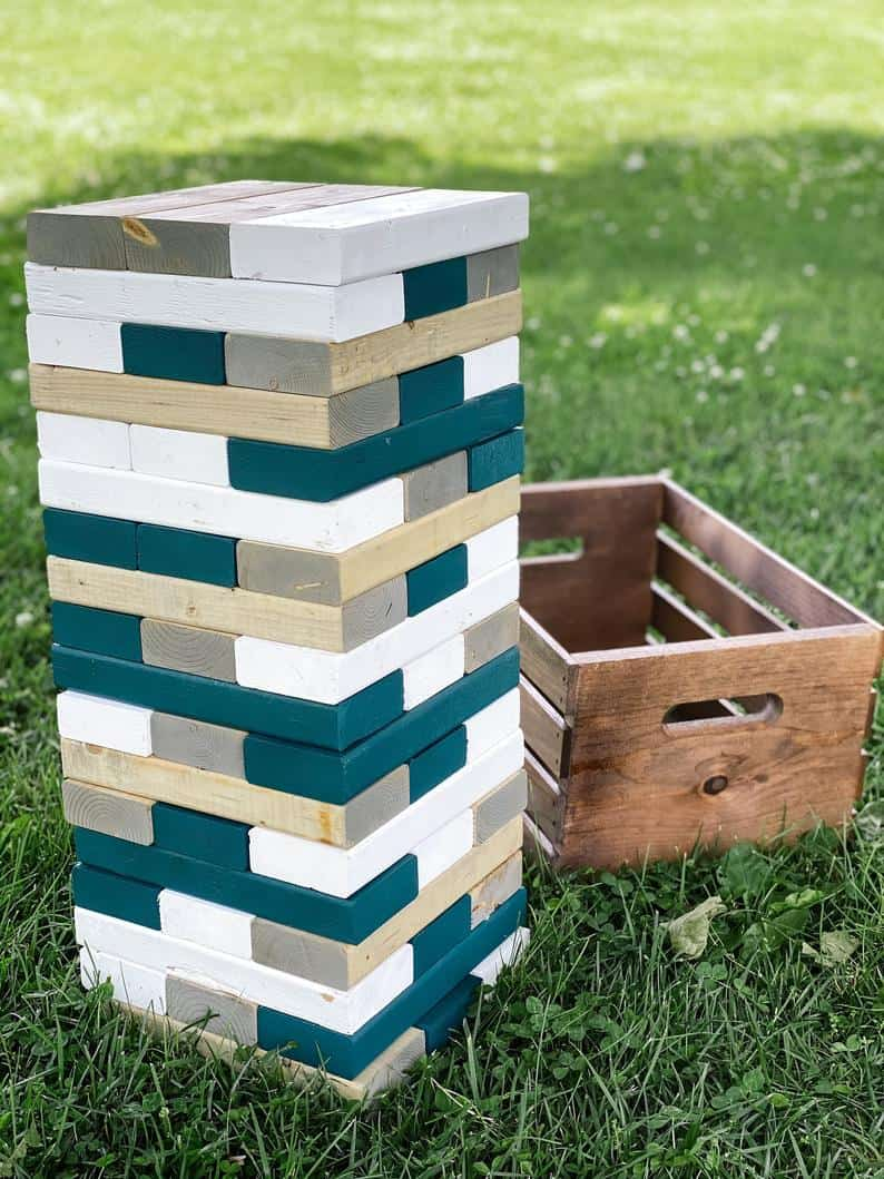 Oversized Tumbling Tower outdoor game