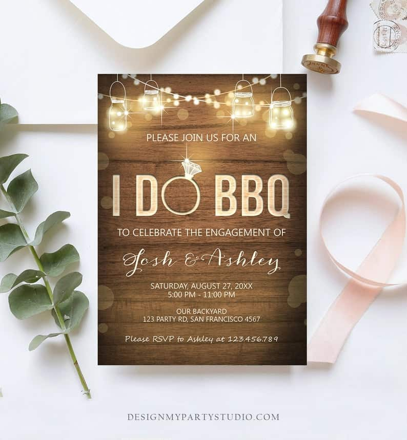 """I DO BBQ"" Invitation"