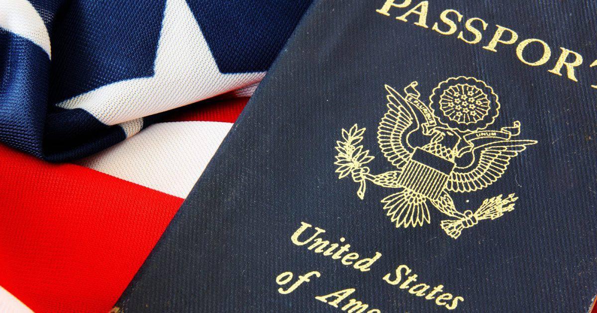 USA passport on The US