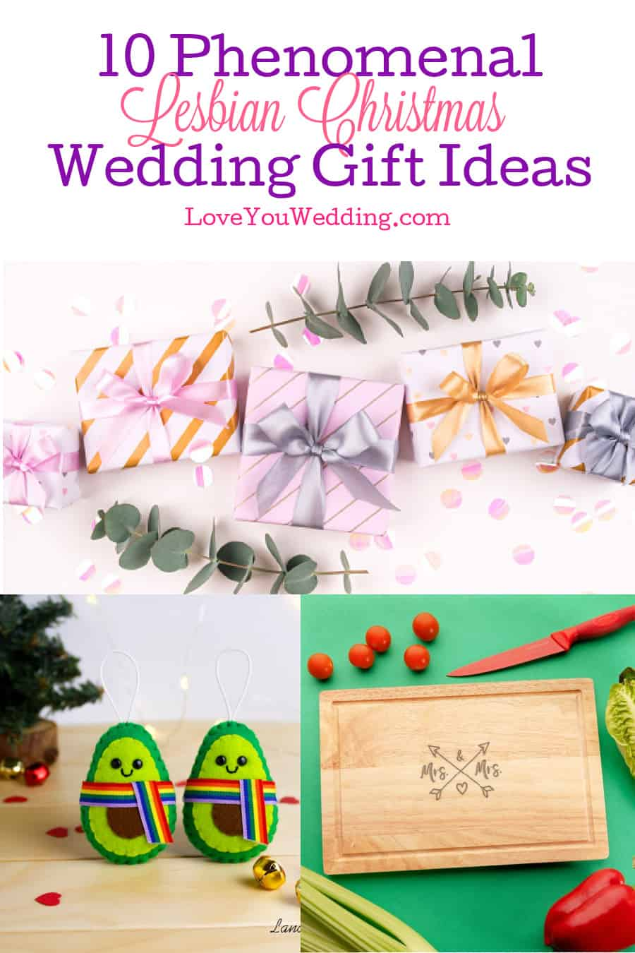 Need some ideas for a few amazing lesbian Christmas wedding gifts? No problem! We rounded up 10 that we adore. Check them out!