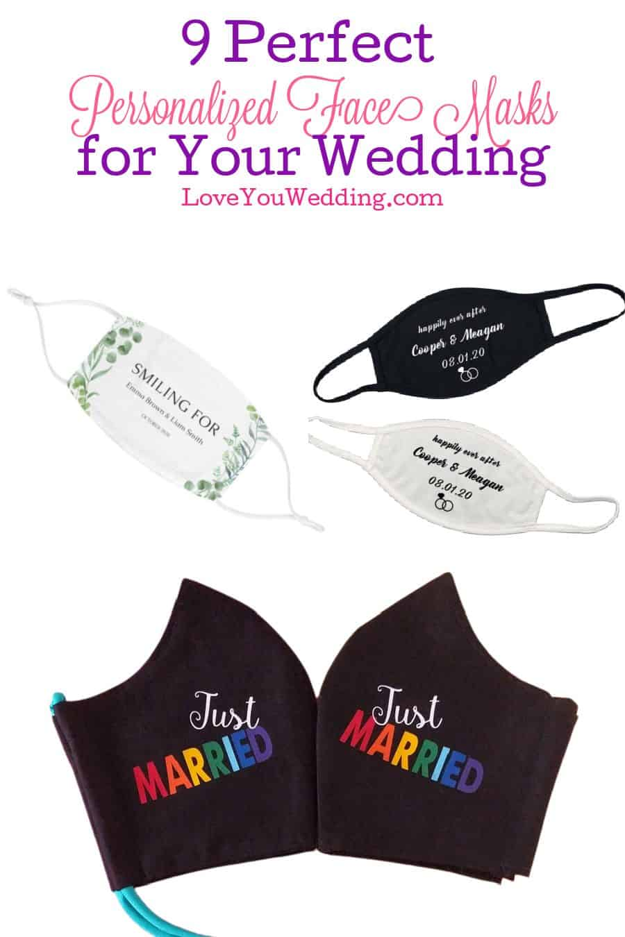 Finding the best personalized face masks for weddings isn't easy, so we put together a list of our favorites for you. Take a look!