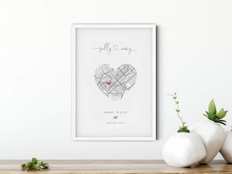 Wedding Gift Personalized Print