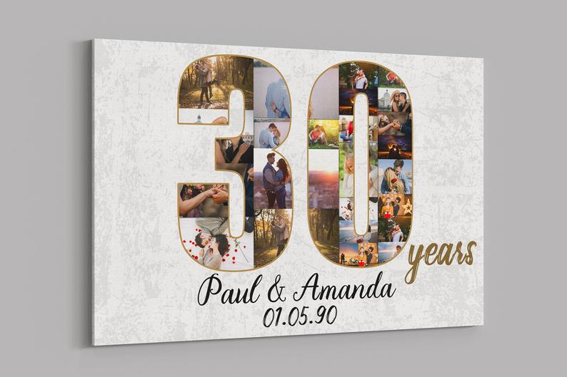 Custom Collage Canvas Anniversary Gifts For Gay And Lesbian  Couples