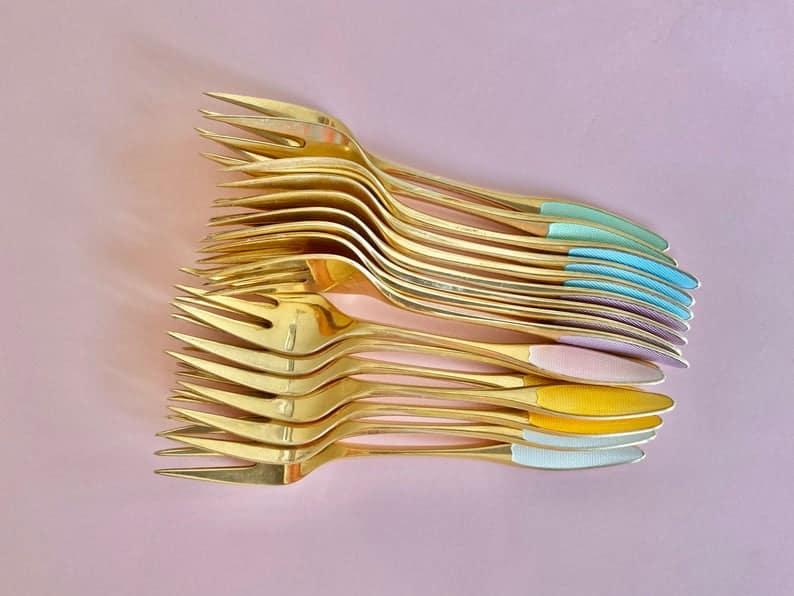 Danish Vintage Cake Forks