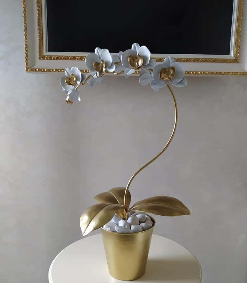 Handmade Metal orchid - Steel orchid - Iron orchid - Metal flower - Handforged orchid