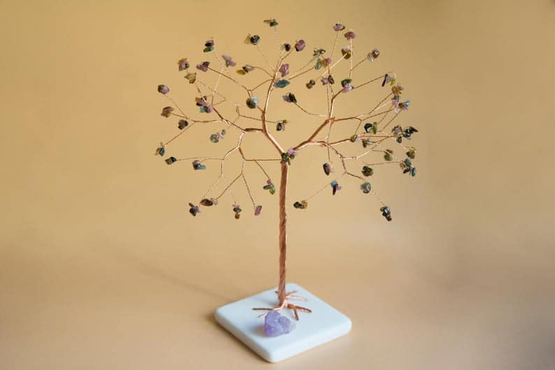 8th anniversary tree sculpture