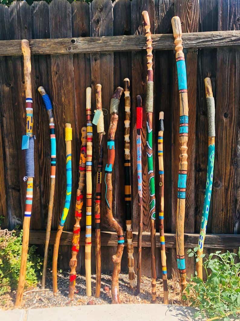 Journey Sticks- A Walking Art Piece