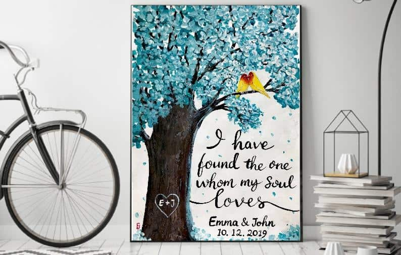Personalized Wedding Quotes Painting