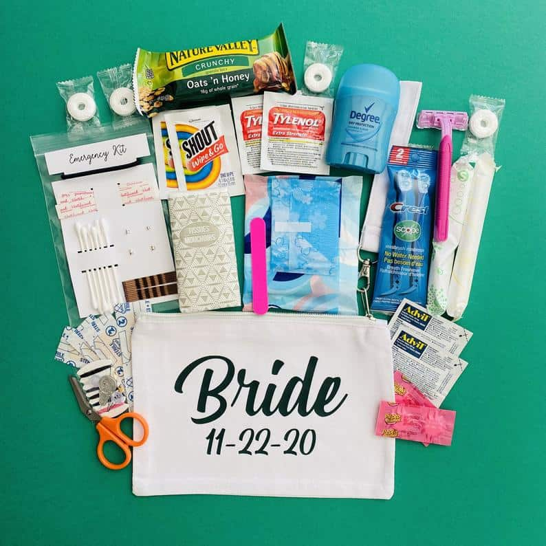 Custom Bridal Emergency Kit