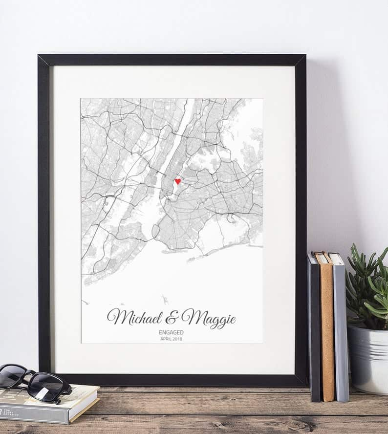 Personalized Engagement Gift Map