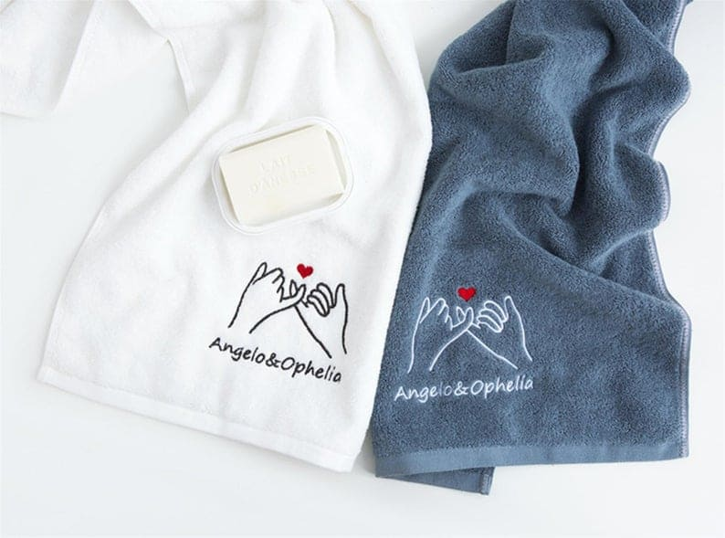 Personalized hers and hers towels