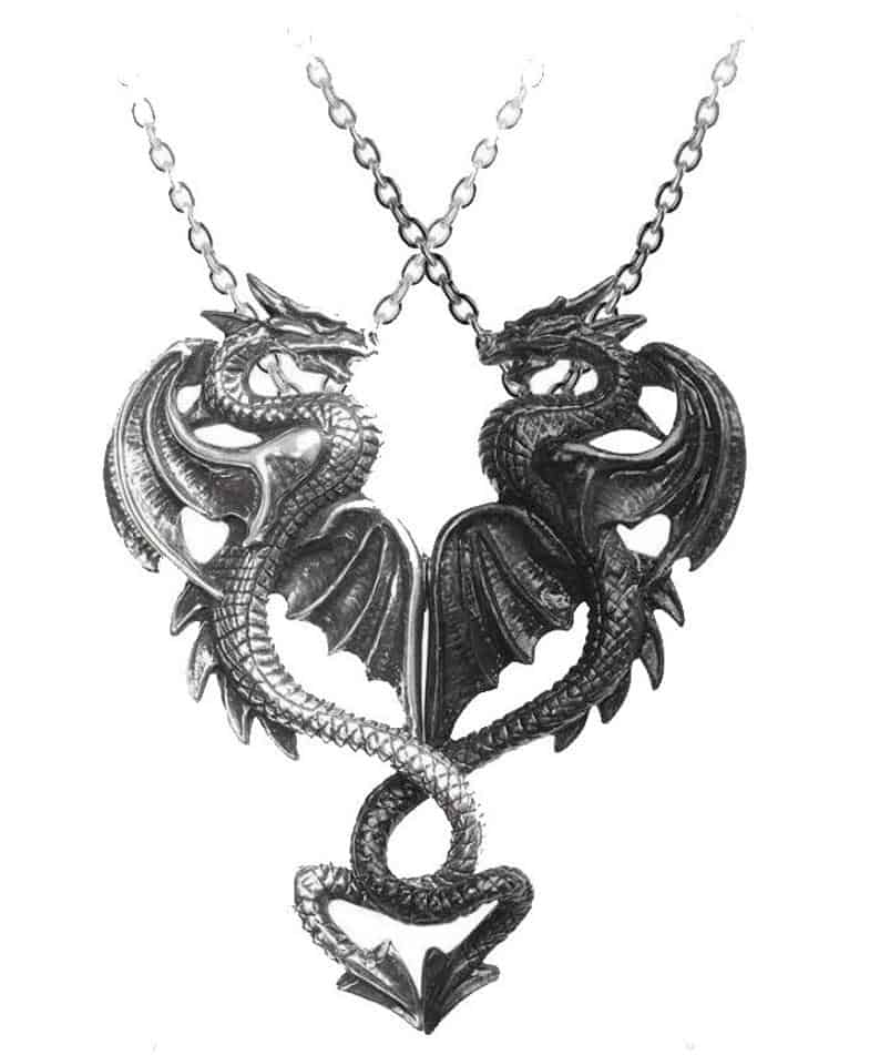 Draconic Tryst Pendants Necklace Made by Alchemy England