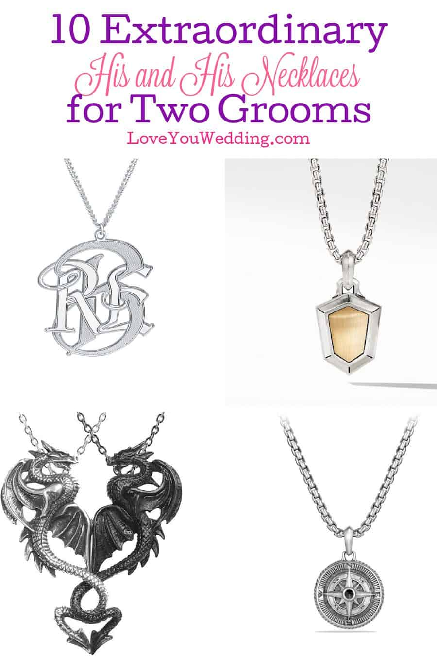 Looking for the perfect his and his necklaces to give each other, or maybe as a wedding gift for two grooms? Check out 10 we love!