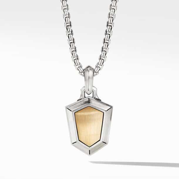 Men's David Yurman Shield Amulet with 18k Yellow Gold