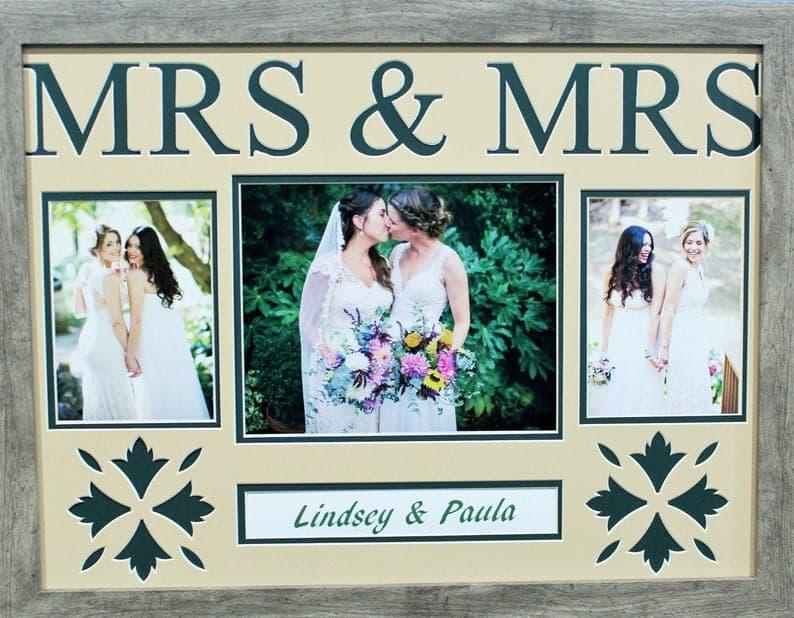 PERSONALIZED LGBT wedding Mrs & Mrs Wedding Frame Gay | Etsy