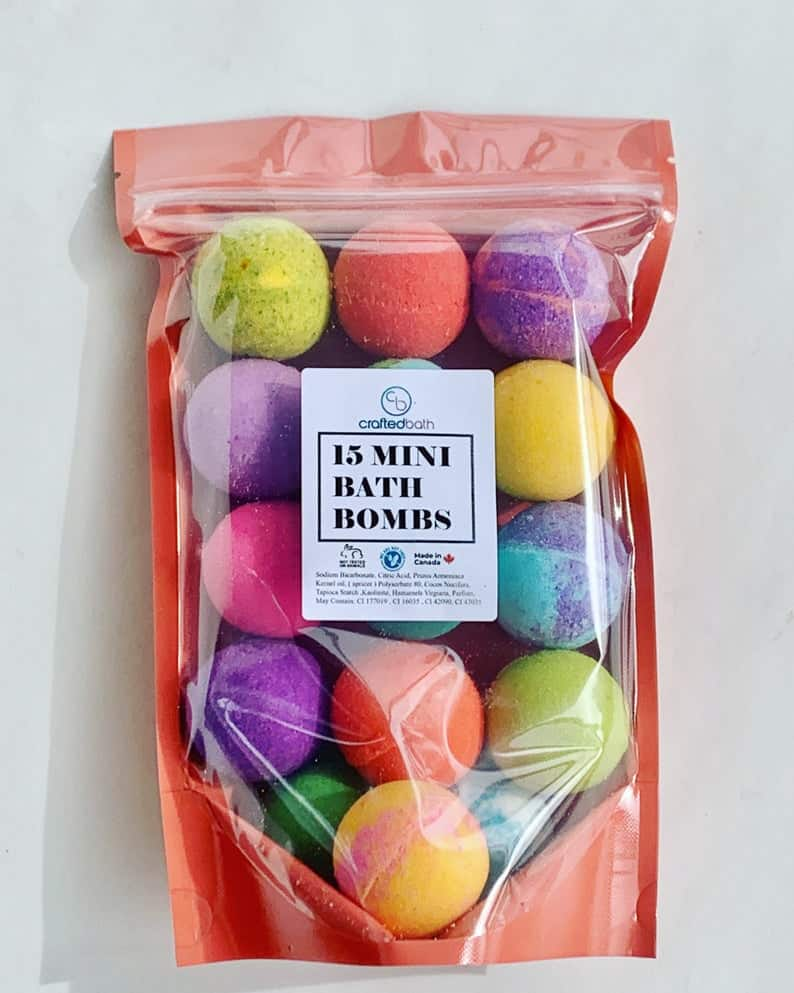 Rainbow Mini Bath Bomb Party Pack
