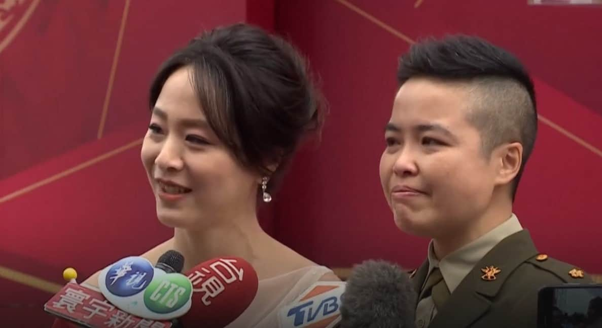 Two lesbian couples made same-sex marriage history in Taiwan today by becoming the first military officers to wed their civilian partners, during a mass ceremony. Read on for the full story.