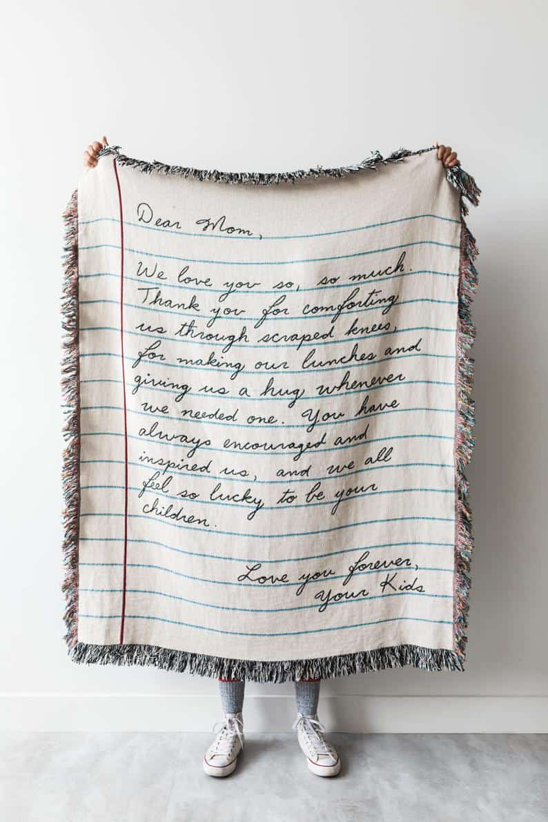 Love Letter Blanket: Personalized Gift