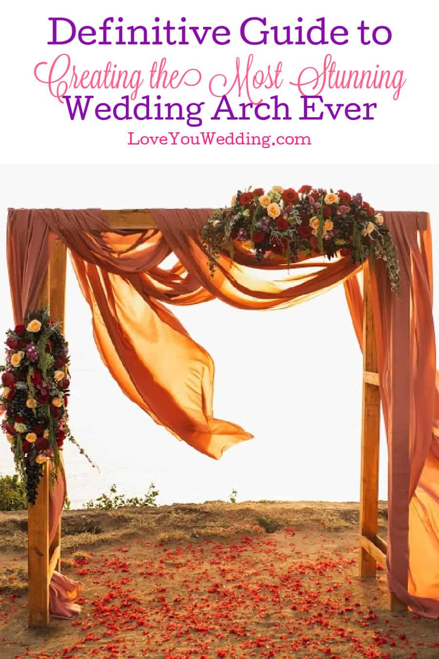 From renting vs buying to the perfect decorations and more, we've covered literally everything you need to know about wedding arches here!