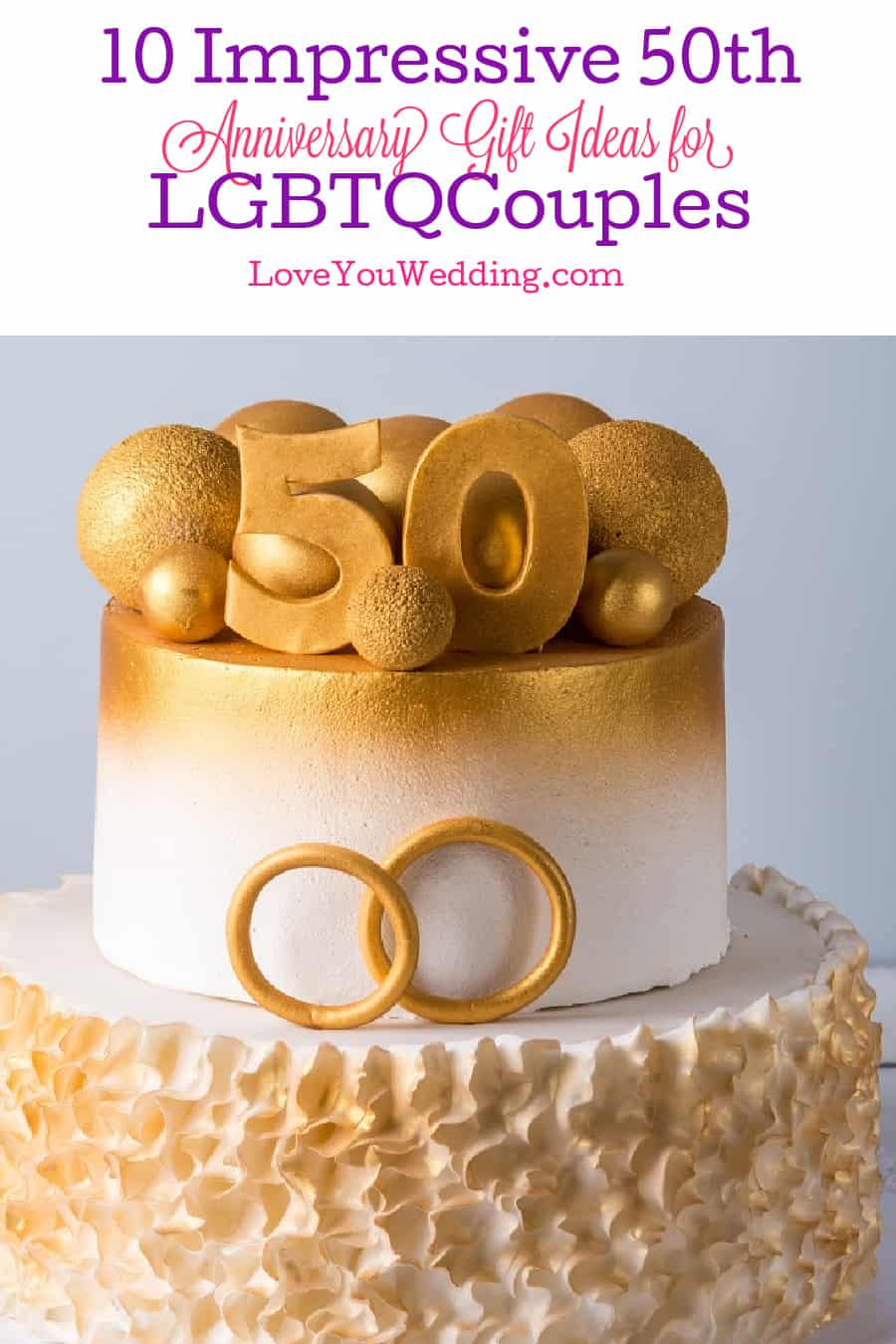 Looking for some unique and impressive 50th Anniversary gifts for gay and lesbian couples? Check out 10 that are sure to touch their hearts!