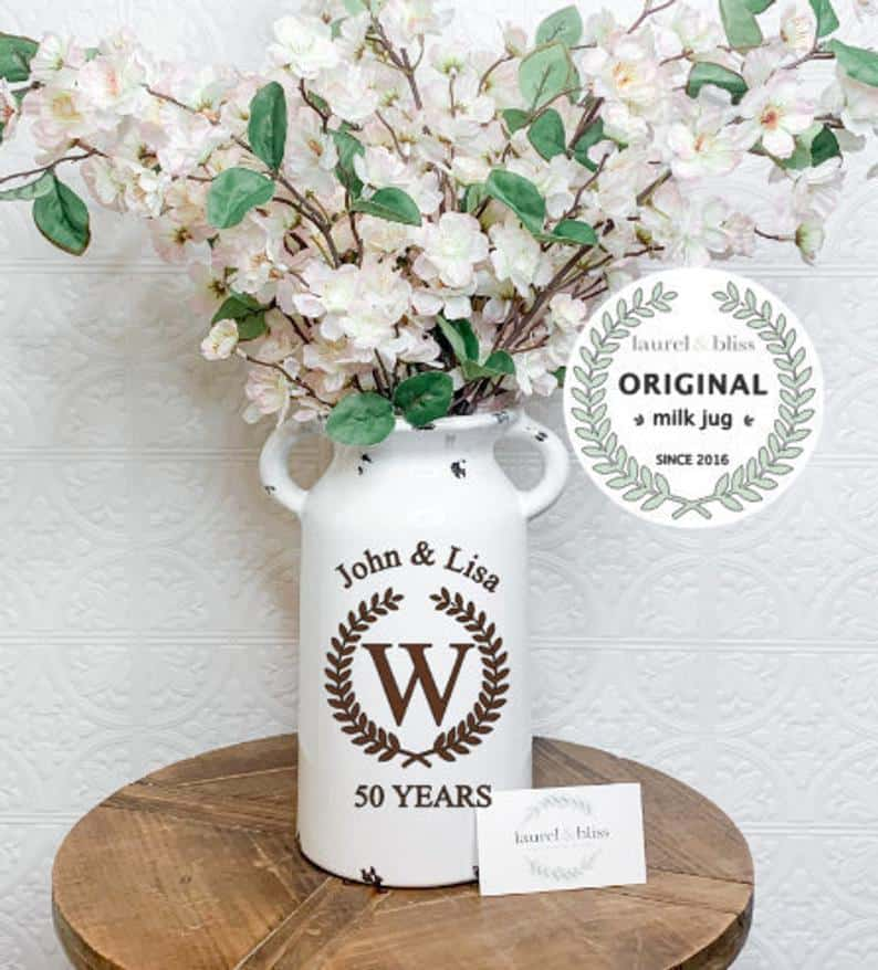 Personalized Vase Anniversary gift