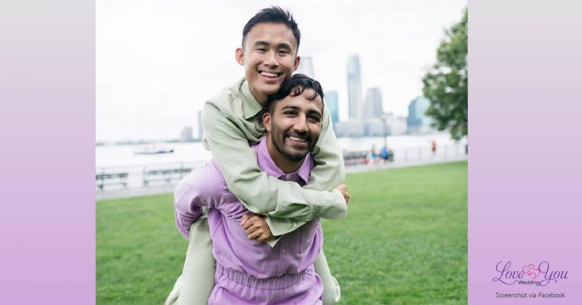 Arthur and Anish Bramhandtam gay couple same-sex wedding