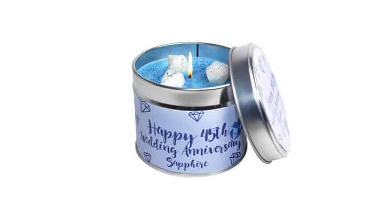 Sapphire Wedding Candle
