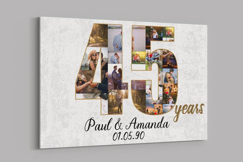 Custom 45th Anniversary Collage