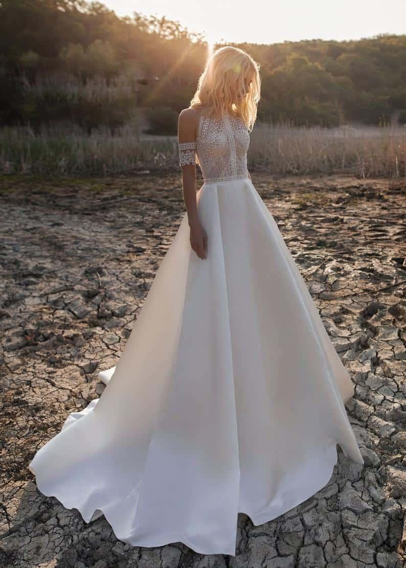 Boho Minimony Wedding Dress