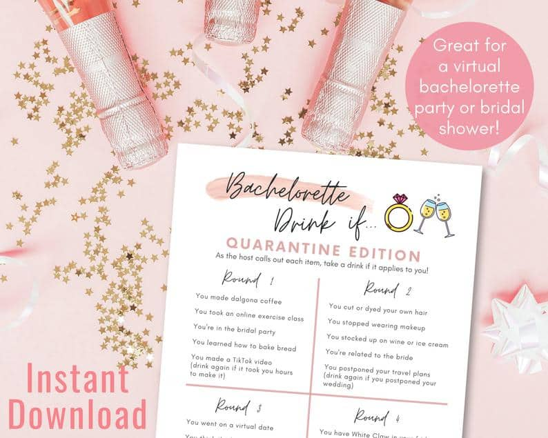 party games drink if printable