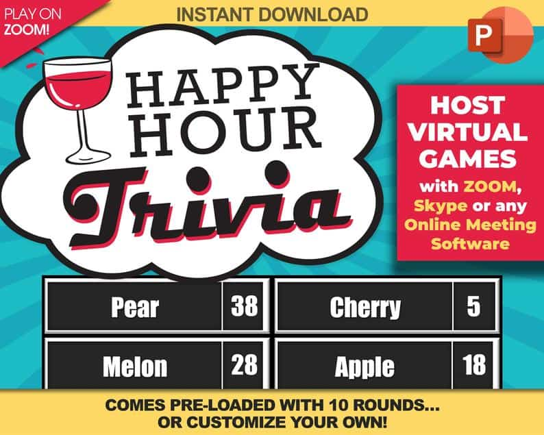 Happy Hour Trivia Game