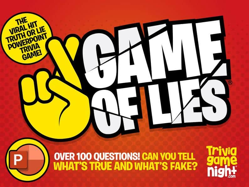 Game of Lies  Powerpoint Party Game with Scoring